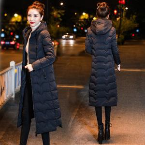 2020冬季新款羽絨棉服長款過膝韓版中長款修身大碼加厚棉襖外套女