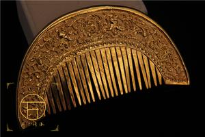 复古唐代金银器梳子古装头饰汉服造型原物复原头饰配饰影视头饰