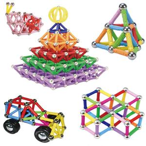 魔磁力棒吸鐵石磁棒兒童益智玩具積木片拼接裝寶貝男女孩散裝球棍