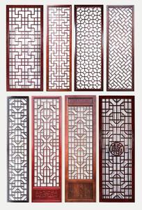 新中式 东阳木雕样仿古门窗实木花格屏风电视背景墙隔断烤漆