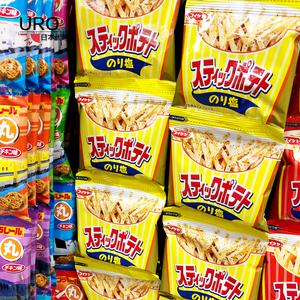 日本湖池屋薯条 宝宝零食低盐淡盐味/海苔味细薯条4连包1岁+