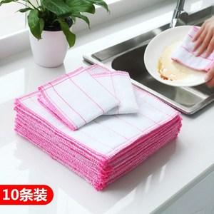 洗锅布刷碗抹布不占油洗碗布不沾油洗宛布毛巾家用麻布去油厨房擦