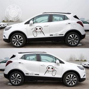 大白車貼新款整車貼昂科拉創酷貼紙個性卡通圖案BIGHERO網紅