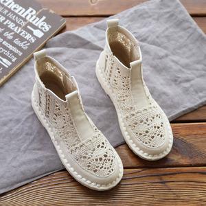 森女复古软底蕾丝包头凉鞋女仙女风ins百搭短靴子夏季新款凉靴潮