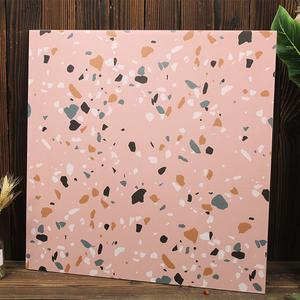 600*600粉红色哑光仿古水磨石地砖/网红少女粉色瓷砖/厨卫阳台砖