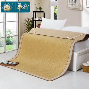 华升天然手工水竹席老篾席 1.8米双人床1.5m传统手编老式凉席子