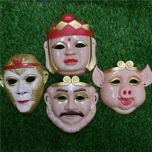 西游記唐僧孫悟空豬八戒沙僧師徒四人面具卡通面具兒童玩具演出圖片