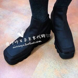日本代购 Ferrira继承Ricordo意大利制 波浪厚底及踝短靴袜靴 962