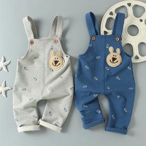 宝宝针织连体裤背带裤图片
