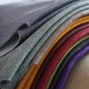 酒店網吧沙發布料加厚細亞麻布純色仿棉麻坐墊抱枕軟硬包工程布藝
