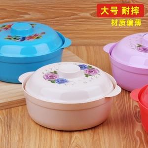 微波爐碗帶蓋塑料泡面碗可加熱保鮮飯盒大號有蓋微波爐專用碗