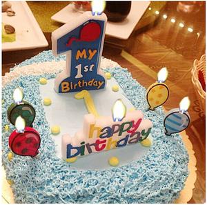 生日派对用品 1岁生日大号蜡烛 一周岁庆典生日派对生日数字蜡烛