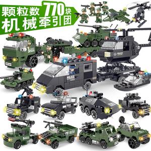 世标乐高社玩具积木警车警察系列军事5-6岁8拼装塑料12儿童玩具弩箭男孩图片