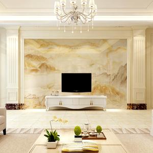 客厅欧式电视背景墙罗马柱 大理石材立柱 瓷砖背景墙配套边框造型