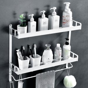 浴室置物架衛浴衛生間收納架子吸盤式壁掛廁所洗手間毛巾架免打孔