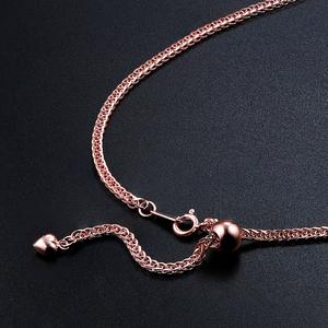 万能链长款 925纯银镀金项链女 镀18k金玫瑰金加粗肖邦毛衣链单链