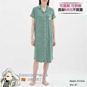日本本土代购 GU夏季新品女士家居服短袖睡衣睡裙四色