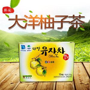 韓國進口食品零食 大洋蜂蜜柚子茶便攜獨立小包裝一盒15袋375g