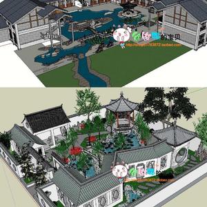 中式庭院别墅_中式别墅庭院景观_中式别墅庭院设计