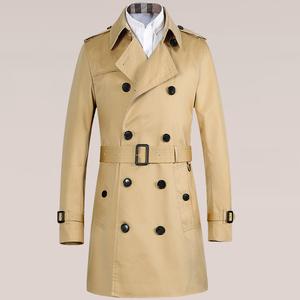 B3秋季新款外套巴彼特家男士防水中长款风衣男双排扣大衣嘎巴甸棉