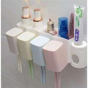 .挂墙式粘贴挂壁墙壁挂饰架牙刷架刷牙杯悬挂洗漱器牙刷架套装家
