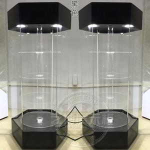 精品饰品手表亚克力旋转展示柜3D眼镜展架透明玻璃手机展柜多功能