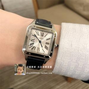 米朵直播 Cartier新款女表 卡地亚山度士手表男士石英表 WSSA0023