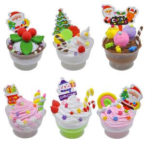 手工制作材料包 diy儿童玩具奶油土超轻粘土甜品杯冰激凌工具套装