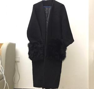百分之百聚酯纖維羊絨外套 百分之三十羊毛  兩邊的兜子上面是