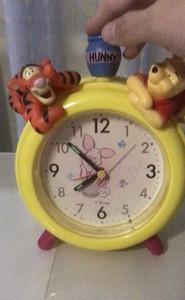 迪士尼DISNEY正版中古小熊維尼跳跳虎卡通鐘表鬧鐘