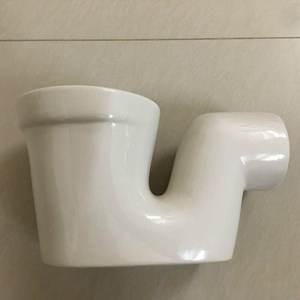 卫浴分体蹲便器臭器配件下水管卫生间隔断配件陶瓷存水弯头 单独
