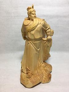 关公桧木木雕摆件忠义千秋关公武财神实木人物佛像木质雕刻工艺品