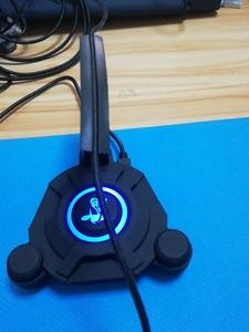 外貿庫存鼠標線夾 集線器 USB HUB 帶燈線夾 羅技鼠標