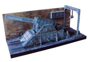 立体折纸手工DIY模?#22270;?#32440; 迷你二战高射炮台 场景建筑 3D纸模制作