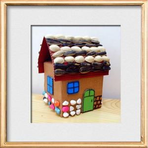 幼儿园美术手工代做— 纸箱房子,纸盒小房子大屋子室内设计模型