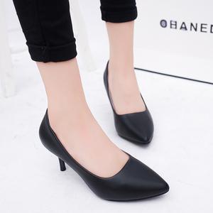 黑色高跟鞋细跟5厘米