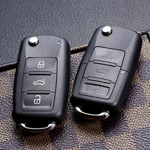 新帕萨特桑塔纳大众b5高尔夫领域polo途观朗逸折叠遥控钥匙壳改装