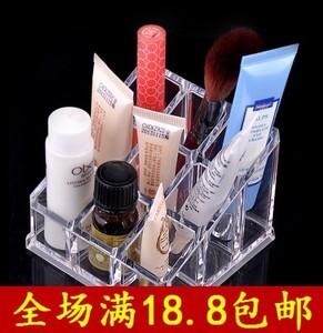 包邮唇膏盒化妆盒/首饰收纳盒 棉签 护肤品收纳 透明水晶收纳盒