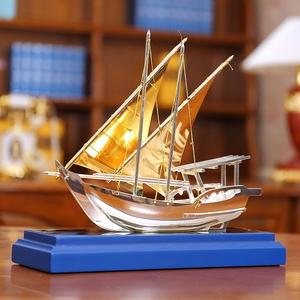 一帆风顺帆船模型摆件家居装饰