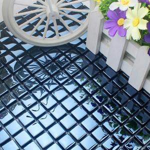 地中海蓝色玻璃镜面马赛克 浴室瓷砖 腰线圆柱弧形装饰墙砖外墙砖
