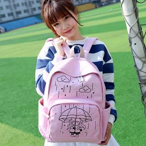 日韩小清新可爱女生初中学生书包女双肩包校园学院萌韩国百搭背包