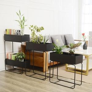 新品铁艺创意花架 客厅阳台装饰架 隔断花槽空白墙电视柜沙发边几