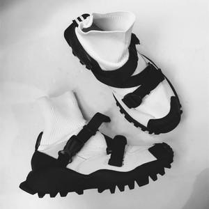 2017夏季新品袜筒连体慢跑鞋韩国ulzzang运动鞋日?#31561;?#32773;鞋休闲鞋