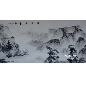 黑白水墨画国画