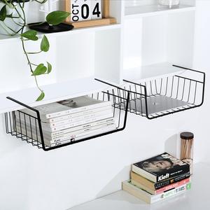 寝室衣柜书桌分层置物架 学生宿舍桌下置物篮 隔板下挂篮收纳神器