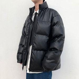 2019年秋冬季新款棉襖男士外套短款皮面包服羽絨棉服韓版潮流棉衣