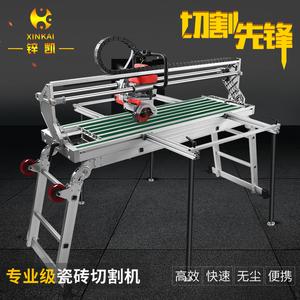 锌凯台式电动瓷砖切割机手动推刀45度倒角器无尘石材切瓷砖工具