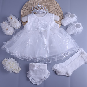 新生兒衣服純棉嬰兒裙子0-1歲夏季女寶寶背心連衣裙滿月百天公主