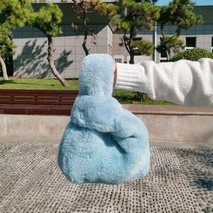 2019新款韩版秋冬季仿獭兔毛皮草手提包袋可爱毛毛绒背心包包女士