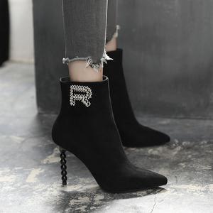 高跟细跟中筒靴女靴潮